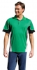 160gsm Dry Polyester Polo Shirt Tri-Colour Design