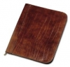 A4 Leather Zipped Folder