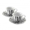 Africa Set 2 Expresso Cups W/ Saucers