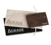 AGRADE Sueded Leatherette Card Wallet