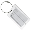 Aluminium Luggage Tag with Wire Cable