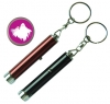 Aluminum Finish Projector Torch Keychain