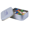 Assorted Colour Maxi Jelly Beans in Silver Rectangular Tins