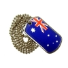 Australian Flag Stainless Steel Dog Tag With 76Cm Ball Chain