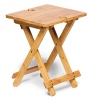 Bamboo Table with Wine Glass Holders