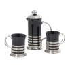 Black Ceramic Mug & Plunger Set