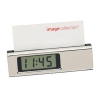 Business Card Holder With Lcd Clock