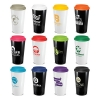 Cafe Cup-Grande - Black or White Body with 12 Colour Option for Screw on Lid