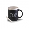 Ceramic Mug Black Panel With Chalk