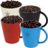 Chocko Beanz In Coloured Coffee Mugs