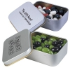 Corpoate Colour Jelly Beans in Silver Rectangular Tins