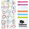 Custom Design Paperclips In Pvc Pouch