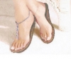 Different Size Fashion Nude Sandal
