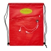Drawstring Bag with Earbud Hole