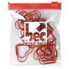 Heart Paperclips In Pvc Zippered Pouch