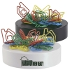 House Paperclips On Paperweight Magnetic Base