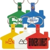 House Shape Soft Pvc Keytag