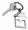 House shaped bottle opener key ring