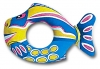 Inflatable Blue Fish Swim Ring