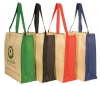Jute panelled carry-all