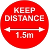 Keep Distance Stickers Pack of 10