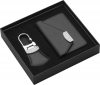 Leather Keychain And Business Card Holder Set