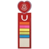 Love Heart Dye Cut Bookmark/Ruler with Noteflags