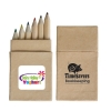 Mini Coloured Pencils In Recycled Cardboard Box