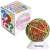 Multicolour Rubberband Ball with White Stand
