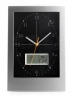 Oblong Wall Clock with Digital Weather Station