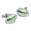 Oval Metal Cufflinks