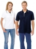 Polo Shirt Polyester Mesh Knit Ribbed Style Collar With Trim
