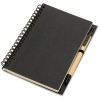 Recycled Black Notebook and Ballpen