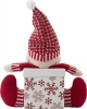 Set of Christmas Decoration Boxes with 3D Knitted Figures