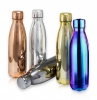 Shiny Metallic Double Wall Bottle