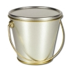 Silver Tin Bucket With Lid