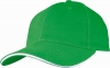 Six Panel Sandwich Baseball Cap in Green�