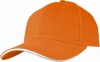 Six Panel Sandwich Baseball Cap in Orange�