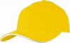 Six Panel Sandwich Baseball Cap in Yellow�