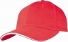 Six Panel Sandwich Baseball Cap�in�Red