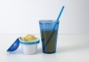 Snack Mug - cup with straw and snack compartment