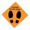 Social Distancing Sticker Signage 30x30