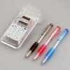 Solar Powered Calculator 3 Pen Set