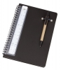 Spiral A5 Notebook with Pen and Scale Ruler