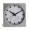 Square Wall Clock with Hygrometer