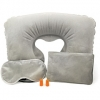 Travel Comfort Set with Inflatable Neck Pillow