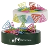 Triangle Paperclips On Paperweight Magnetic Base