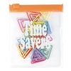 Triangle Shape Paperclips In Pvc Zippered Pouch