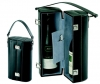 Two Bottle Bonded Leather Wine Carrier