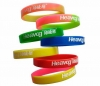 Two Coloured Silicon Wristband